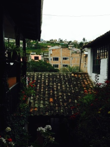 morning view from our Hostel Riviera Sucre