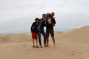 In the sand dunes of Huacachina